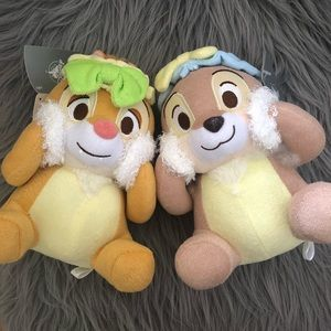 Chip and dale washing face plush